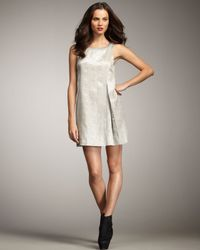 Rachel Zoe | Metallic Jill Pleated Shift Dress | Lyst