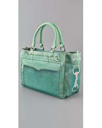Rebecca Minkoff - Green Canvas Mab Bag - Lyst