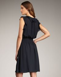 Rebecca Taylor - Blue Ruffle Dress - Lyst