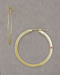 Roberto Coin | Metallic Yellow Gold Hoop Earrings | Lyst