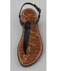 Sam Edelman - Black Gigi T-strap Flat Sandals - Lyst