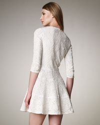 See By Chloé - White Fit-and-flare Lace Dress - Lyst