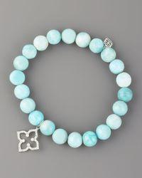 Sydney Evan | Blue Larimar & Diamond Charm Bracelet | Lyst