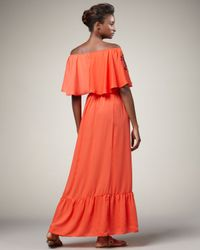 T-bags   Orange Embroidered Maxi Dress   Lyst