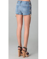Tory Burch | Blue Lacey Short | Lyst
