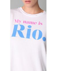Wildfox - White My Name Is Rio Tee - Lyst