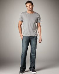 7 For All Mankind | Blue Cerrillos Tracer Layout Jeans for Men | Lyst