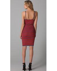 Alexander Wang | Purple Engineered Striped Tank Dress | Lyst