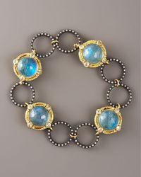 Armenta - Blue Circle-link Bracelet - Lyst