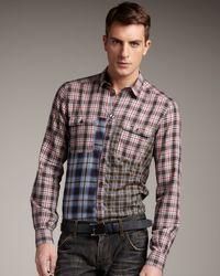 Dolce & Gabbana - Pink Plaid Shirt for Men - Lyst