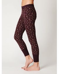 Free People | Red Printed Thermal Legging | Lyst