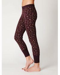 Free People - Red Printed Thermal Legging - Lyst