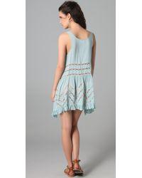 Free People - Blue Trapeze Slip Dress - Lyst