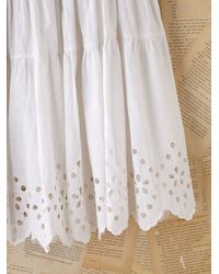 Free People | Vintage White Cotton Eyelette Slip | Lyst