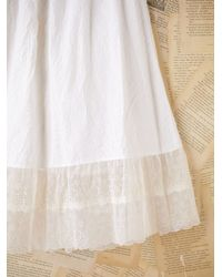 Free People | Vintage White Cotton Slip with Sheer Hem | Lyst