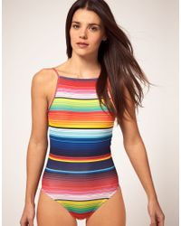 House of Holland - Multicolor Swim Suit With Rainbow Print - Lyst