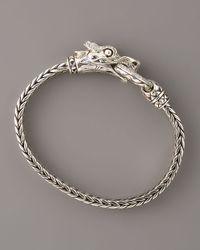 John Hardy   Metallic Naga Head Bracelet   Lyst