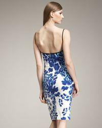 Just Cavalli - Blue Leopard-print Bustier Dress - Lyst