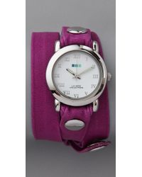 La Mer Collections | Purple Neon Simple Wrap Watch | Lyst