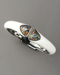 M.c.l  Matthew Campbell Laurenza - Art Deco Enamel Bangle, White - Lyst