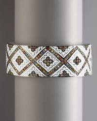 M.c.l  Matthew Campbell Laurenza - White Persian Graphic Cuff Bangle - Lyst