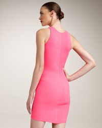 McQ - Pink Ribbed-knit Tank Dress - Lyst