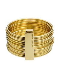 Michael Kors - Metallic Bangles with Clip - Lyst