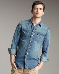 Polo Ralph Lauren | Blue Classic Denim Western Shirt for Men | Lyst