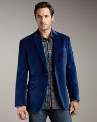 Robert Graham | Blue Velvet Twill Sport Coat for Men | Lyst