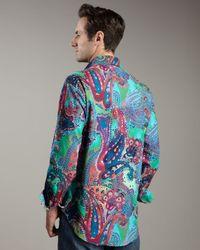 Robert Graham | Multicolor Cholla Cactus Printed Long-sleeve Sport Shirt for Men | Lyst