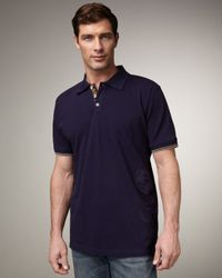 Robert Graham - Blue Embroidered Polo, Navy for Men - Lyst
