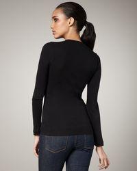 Splendid | Long-sleeve V-neck Tee, Black | Lyst