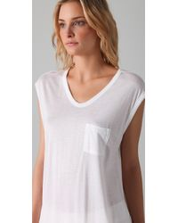 T By Alexander Wang | White Classic Muscle Tee | Lyst