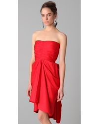 Thakoon - Gathered Strapless Dress - Lyst
