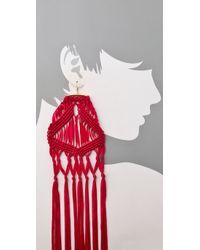 Tribune Standard - Pink Macrame Earrings - Lyst