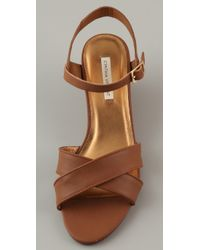 Twelfth Street Cynthia Vincent | Brown Lita Low Wedge Sandals | Lyst