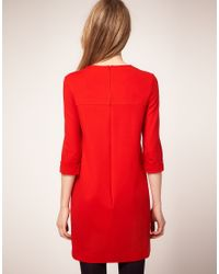 Whistles | Red Corinna Shift Dress | Lyst
