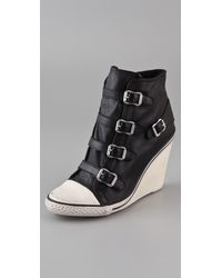 Ash | Black Thelma Wedge Sneakers | Lyst