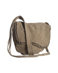 Ash - Brown Taupe Suede Joanna Filigree Crossbody Bag - Lyst