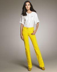 DSquared²   Yellow Flared Jeans   Lyst