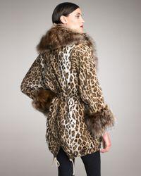 Elizabeth and James | Natural Leopard Fur-trim Parka | Lyst