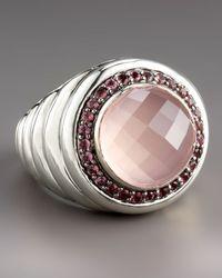 John Hardy - Metallic Bedeg Rose Quartz Ring - Lyst