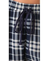 JOSEPH | Blue Staten Drawstring Plaid Pants | Lyst