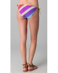 Marc By Marc Jacobs - Multicolor Merida Striped String Bikini Bottoms - Lyst