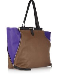 Marni   Brown Two-tone Leather Shoulder Bag   Lyst