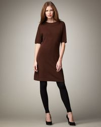 Neiman Marcus | Brown Cashmere Dress | Lyst
