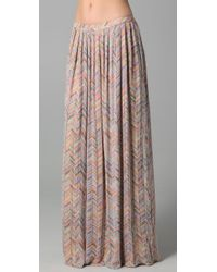 Parker | Multicolor Zigzag Beaded Long Skirt | Lyst