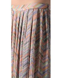 Parker - Multicolor Zigzag Beaded Long Skirt - Lyst
