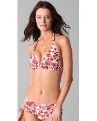 Pret-a-surf   Red Retro Bikini with Ruffles   Lyst
