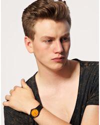 G-Shock | Orange Dial Black Strap Watch | Lyst